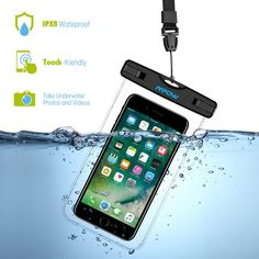 Mpow 097 Universal Waterproof Case, Waterproof Phone Pouch Dry Bag Compatible for iPhone Pro Max/Xs Galaxy up to Phone Pouch for Beach Kayaking Travel or Bath Pack) Phone Covers, Cell Phone Cases, Macbook, Galaxy S8, Samsung Galaxy, Iphone Cases Cute, Waterproof Phone, Phone Organization, Phone Icon