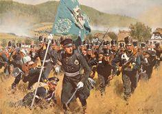 DIE SCHLACHT BEI KULMB. efreiungskriege 1813–15 / Schlacht bei Kulm und Nollendorf am 29. und 30. Aug. 1813 (Die Franzosen unter Vandamme werden durch die Verbündeten geschlagen).