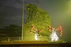 Nadim Karam. Archaic Procession, 20 monumental steel sculptures, Beirut, Lebanon, 1997-2000.