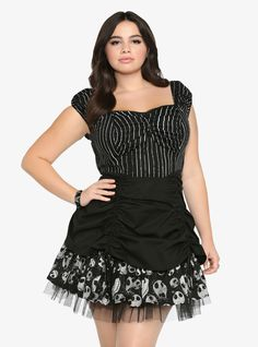 Disney Nightmare Before Christmas Pick Up Dress $68.50 #torrid #plus