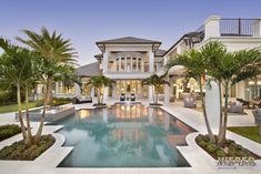 Marquesas House Plan, featured as Golf Magazine's 2015 Golf Dream House see photos of interior and exterior of finished home. 2 floor, Caribbean island beach architecture with island kitchen and outdoor kitchen, lanai, pool area.