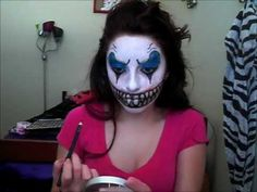 Scary Clown Halloween Make Up. I really want to do something like this, this year.