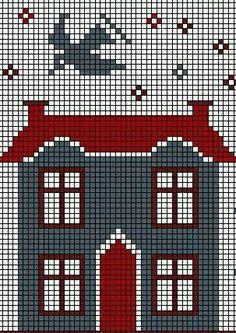 House cross stitch pattern