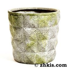 Pyramid Planter Pot-Beautifully designed plantar pot with pyramid designs around the outside. Gives this plantar a sophisticated look. The plantar is Large Garden Planters, Planter Pots, Stone, Deck, Patio, Design, Rock, Large Planter Boxes, Front Porches