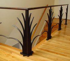 Blacksmith : Custom Designed Handrail : Hand Forged Steel