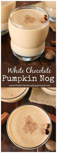 No need to wait until Christmas to enjoy a glass of nog. Whip up Skinny White Chocolate Pumpkin Nog for Fall.