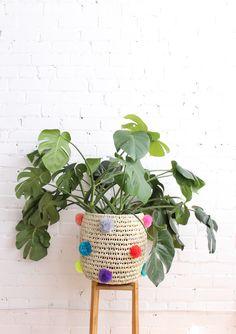 Cutest pompom baskets - Baba Souk