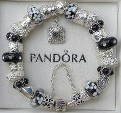 Authentic Pandora Bracelet with European Beads by ExquisiteAellas, $159.00