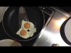 Owl shaped fried egg フクロウ目玉焼き