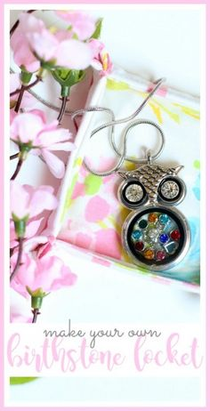 DIY birthstone locket gift idea from MichaelsMakers Sugarbee Crafts