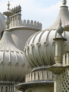 Brighton pavilion spires: The Royal Pavilion is a former royal residence. It is often referred to as the Brighton Pavilion and was built by the British in the Indo-Saracenic style prevalent in India for most of the 19th century
