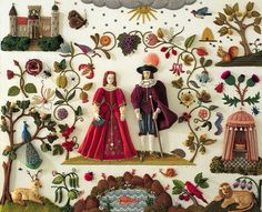 Stumpwork is a type of raised embroidery that comes from 17th century England.  This stunning piece of art took Jane Nicholas, who has been researching and practicing stumpwork for twenty years, five years to complete.