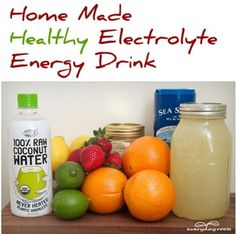 3 Homemade Healthy Electrolyte-Rich Energy DrinksPositiveMed | Positive Vibrations in Health