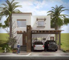 Fachadas de casas de 2 pisos con balcon y cochera