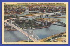 View Suspenion Bridge of Triborough & Hellsgate Bridge  Astoria Park NEW York