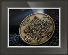 "Patek Philippe Geneve Commemorative Medal Coin // Paper: enhanced matte; Glazing: acrylic; Moulding: black, florentine black loft; Top Mat: black/gray, coal; Middle Mat: blue, midnight; Bottom Mat: white/cream, topaz // Price starts at $158 (Petite: 18.75"" x 20.75""). // Customize at http://www.imagekind.com/Patek-Philippe-Geneve-PPG_art?IMID=02d2d878-c1ec-4135-b5f1-3c17e7a5ee8b"