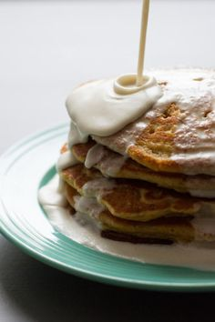coconut tres leches pancakes // edibleperspective.com