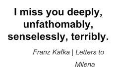 Franz Kafka, Letters to Milena