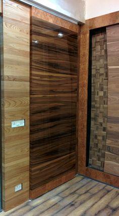 Smoked satin walnut plank match wood veneer sliding door & Usage and application of wood veneers | How wood veneers are made ...