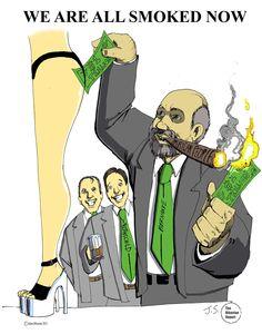 Ben Bernanke In A Strip Club