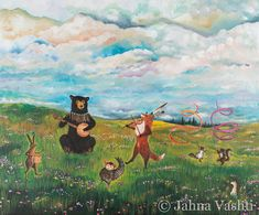 Impression, jubilé de printemps, art de printemps, woodland, amis de la forêt, art de la chambre de bébé