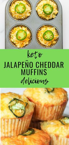 Keto Jalapeño Cheddar Muffins Great little addition to your Keto Chili or Low Carb Soup. And hey.you can also have as a savory breakfast option instead of eggs. Breakfast Options, Savory Breakfast, Breakfast Recipes, Diet Breakfast, Breakfast Cereal, Breakfast Casserole, Breakfast Gravy, Breakfast Frittata, Overnight Breakfast