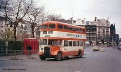 Manchester, dated bus travel Manchester Buses, Manchester England, Old Pictures, Old Photos, Old M, Cool Old Cars, Double Decker Bus, Bus Coach, Salford