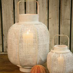 Coastal Lanterns #nautical #lanterns dotandbo.com