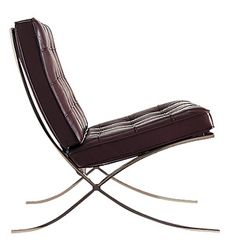 this would work in my living room also! Barcelona chair (Mies Van Der Rohe) classic from Knoll