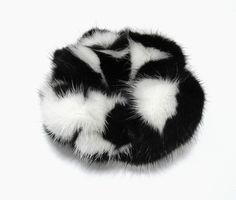 new real natural mink fur scrunchie/hair band/ponytail holder/bracelet
