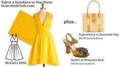 (via Make This Look: Taken a Sunshine to You Dress | The Sew Weekly - Sewing & Vintage Lifestyle)