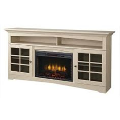 Home Decorators Collection Avondale Grove 59 in. Media Console Infrared Electric Fireplace in Aged White 365-166-165-Y at The Home Depot - M...