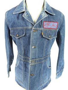 Vtg-70s-USA-Made-Levis-Johnny-Cash-Cotton-Work-Shirt-Mens-L-Orange-Tab