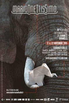 Cette année j'ai réalisé le refonte du logo Marionnettissimo ainsi que les documents du festival 2015, demandez le programme !