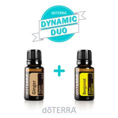 Dynamic Duo!   Ginger's hot, spicy, earthy and sweet aroma blends beautifully with Bergamot's citrus, spice, high floral note.