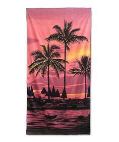 Look what I found on #zulily! Sunset Palm Beach Towel #zulilyfinds