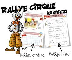 Ateliers lecture , rallye-copie et rallye-écriture cirque - Bout de gomme