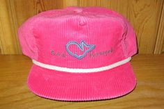 ROYAL KAANAPALI Golf Resort Maui Hawaii Vintage Pink Corduroy Strapback Hat  Rope Lined Country Club Imperial Headwear Cap Embroidered USA b7552d26281b