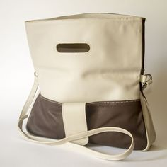 Duotone Brown and Grey Flap Shoulder Bag Leather Shoulder Bag, Leather Bag, Brown And Grey, Wood Crafts, Backpacks, Handmade, Bags, Fashion, Hand Made