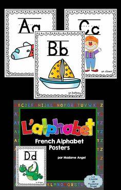 $  L'alphabet français!  Set of French Alphabet Posters.