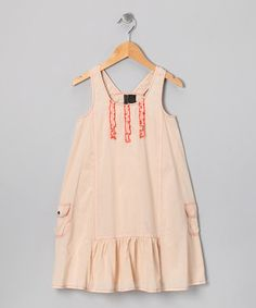 Take a look at this Khaki Pocket Dress - Girls by Playful Picks: Girls' Apparel on @zulily today!