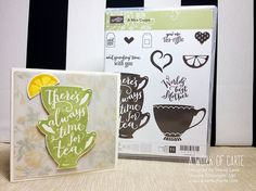 Have A Cuppa - New Stamp Set 2016 Occasions Catalog #haveacuppa #stampinup #aworkofcarte | A Work of Carte