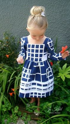 Rayann's Retro Dress & Top. PDF sewing pattern for toddler girl sizes 2t - 12. - Simple Life , Company, long sleeve woven dress