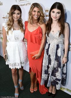 Her mini mes! Lori Loughlin showed off her girls Isabella Rose and Olivia Jade, who are both You Tube stars, when at the Hallmark Channel event at the TCAs in Los Angeles on Thursday