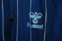 VINTAGE MADE DENMARK HUMMEL MENS WOMENS TRACKSUIT JACKET ZIP BLUE NAVY NYLON XL