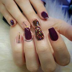 Acrylic colors mix in 2020 Gelish Nails, Nail Manicure, Red Nails, Swag Nails, Summer Acrylic Nails, Best Acrylic Nails, Gorgeous Nails, Pretty Nails, Semi Permanente
