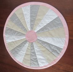 Shabby Chic Quilted Circular Table Topper by seamssewprecious, $28.00