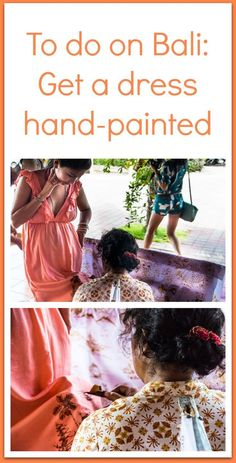 Get a dress hand-painted by one of the batik artists in Ubud or Denpasaar - it's cheap and a it's a great souvenir of Bali, Indonesia to take home with you. Click through to find out how to get a hand-printed dress in Bali. | As We Saw It #bali #indonesia #souvenir