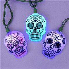 Dia de los Muertos String Lights
