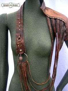 shoulder harness leather armor statement by Renegadeicon